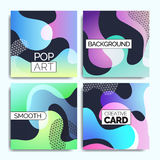 Funky design template fot print products. Stock Image