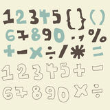 Funky digits and maths signs Stock Image