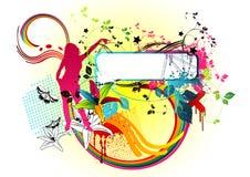 Funky Disco van het Suikergoed royalty-vrije illustratie