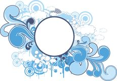 Funky dream round frame Royalty Free Stock Photo