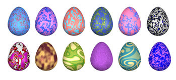 Funky Easter Eggs Stock Photos