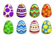 Funky Easter Eggs. Funky multi-coloured easter eggs Stock Photo