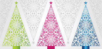 Funky and Elegant Christmas trees Stock Images