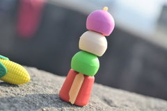 Funky erasers Stock Image