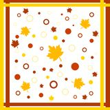 Funky fall design. Funky framed fall leaves and circles design Stock Photos