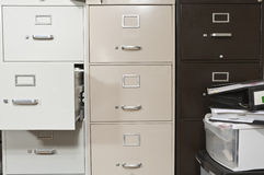 Funky File Cabinets Royalty Free Stock Photography