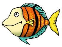 Funky fish. Funky cartoon style fish illustration stock illustration