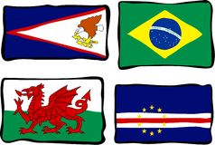 Funky Flags Royalty Free Stock Images