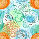 Funky floral background Stock Image