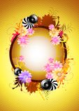 Funky Floral Background Royalty Free Stock Images
