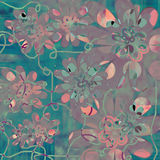Funky Floral Background. A retro inspired floral background for scrapbooking and design Stock Photography