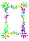 Funky floral frame border Stock Images