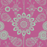 Funky Floral Gypsy Bohemian Style Background Stock Image