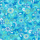 Funky Floral Seamless Repeat Pattern Royalty Free Stock Photo