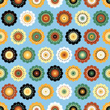 Funky flowers abstract seamless pattern Stock Images