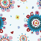 Funky Flowers Seamless Pattern. A very cute floral pattern with bright colors Royalty Free Stock Images