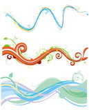 Funky flowing pattern Stock Photo