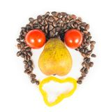 Funky food face Royalty Free Stock Image