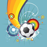 Funky football design. Funky football abstract artistic design Stock Images