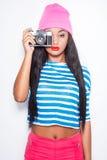 Funky fotograaf royalty-vrije stock afbeeldingen