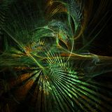 Funky fractal forest. Great for your backgrounds and composition Stock Image