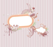 Funky frame. Vector illustration of funky styled design frame made of floral elements Stock Photography