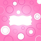 Funky frame and circles Stock Images