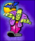 Funky Frankenstein Monster. An illustration of a colorful Frankenstein perfect for Halloween invitations royalty free illustration