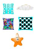 Funky fun pillows Stock Photos