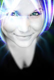 Funky Futuristic Female. An abstract woman with glowing plasma like hair Stock Photos