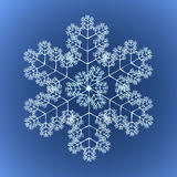 Funky Gedetailleerde Sneeuwvlok Stock Fotografie