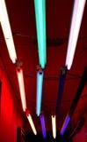 Funky gekleurde lichten van de Strook stock foto's