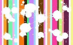 Funky Gekleurde Splats stock illustratie
