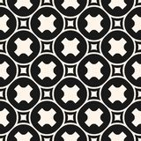 Funky geometric pattern with crosses, squares, mesh. Royalty Free Stock Image