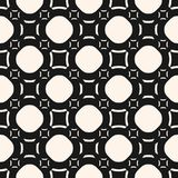 Funky geometric seamless pattern with circles and squares Royalty Free Stock Images