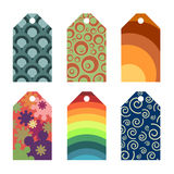 Funky gift tags Royalty Free Stock Images