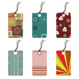 Funky gift tags Stock Image