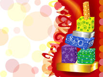 Funky gift tower Stock Photo