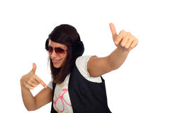 Funky girl Royalty Free Stock Photos