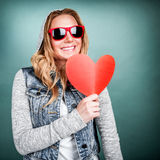 Funky girl in love Royalty Free Stock Photography