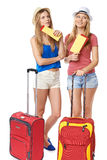 Funky girls travelers Royalty Free Stock Photos