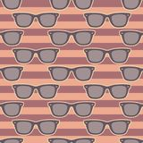 Funky glasses pattern Stock Images