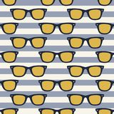 Funky glasses pattern Royalty Free Stock Photos