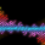 Funky Glowing Dots Royalty Free Stock Photo