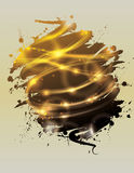 Funky glowing light effect background Royalty Free Stock Image