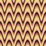 Funky Glowing Waves. A funky seamless pattern with glowing wavy lines Stock Photography