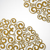 Funky gold Swirls. Stock Photography