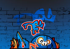 Funky graffiti Royalty Free Stock Photo