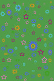 Funky Green Background. A fun funky green background with stars.  Great for webpages or wrapping paper Stock Photos