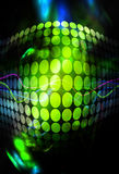 Funky Green Circles Background. Abstract background with glowing green circles and colorful accents Stock Image